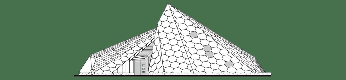 piramide denver vidrio cristalino personalizado